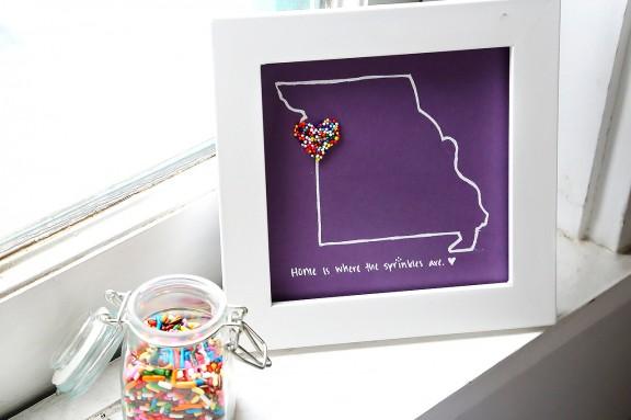 DIY Sprinkles Art | gimmesomestyleblog.com