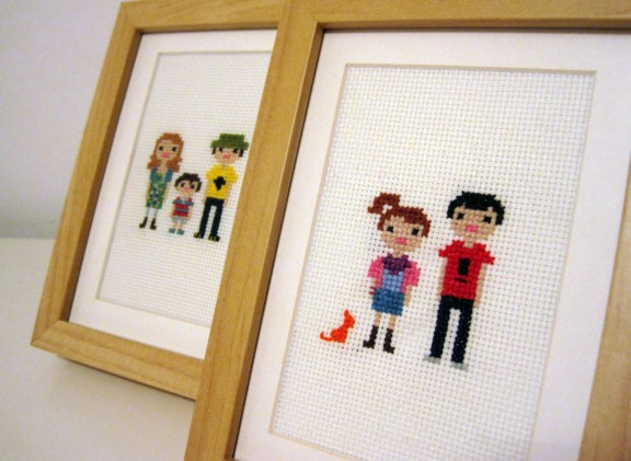 Custom Cross Stitch Portrait Giveaway! | Gimme Some Style