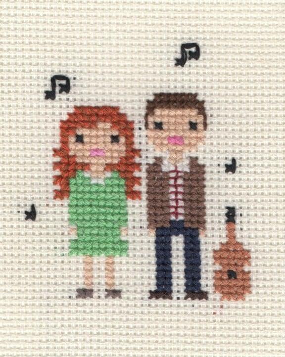 Custom Cross Stitch Portrait Giveaway!   www.gimmesomestyleblog.com #giveaway