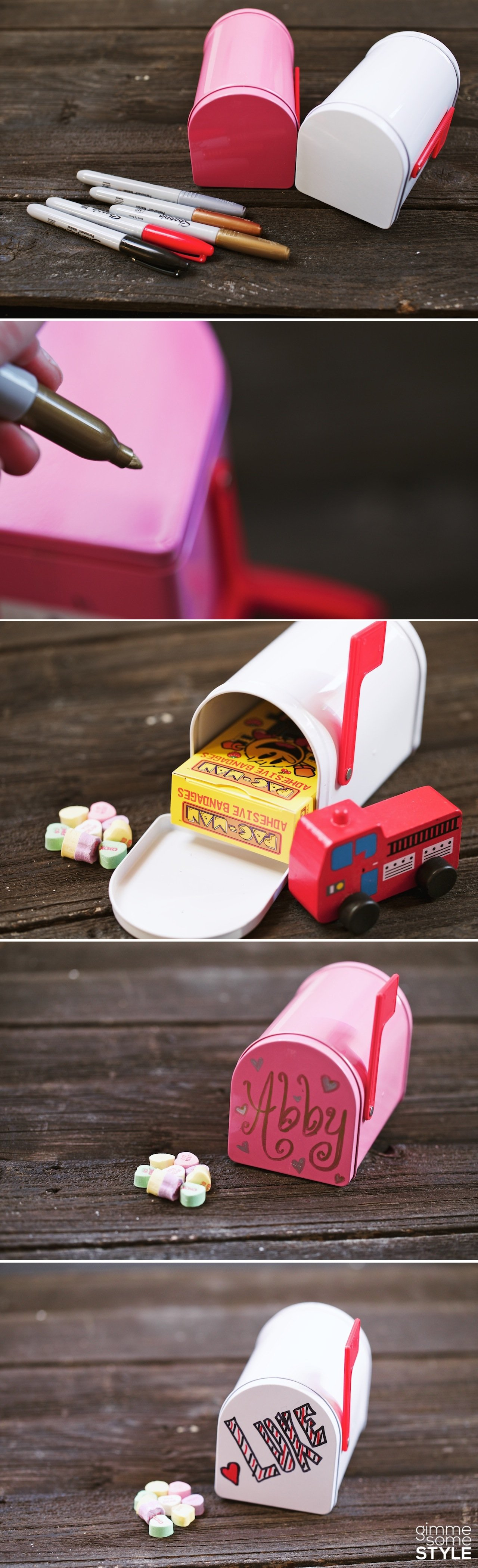 Makeover this Target dollar spot mailbox into an adorable valentine's box! | www.gimmesomestyleblog.com #valentines #target