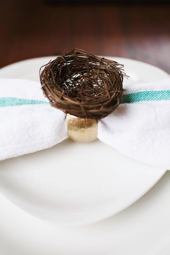 Easter Nest Napkin Ring | www.gimmesomestyleblog.com #napkinring #easter