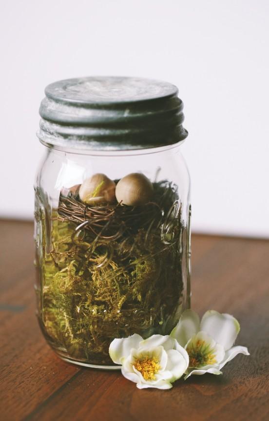 Easter Mason Jar | www.gimmesomestyleblog.com #easter #masonjar #diy