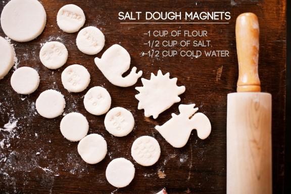 Salt dough magnets   www.gimmesomestyleblog.com