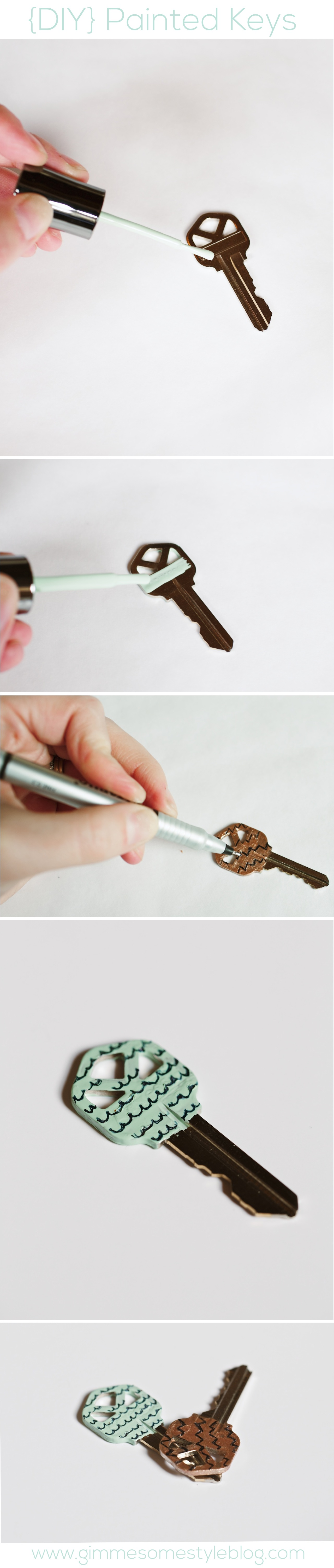 Have trouble telling your keys apart?  Never have trouble again with this simple DIY project! | www.gimmesomestyleblog.com #diy