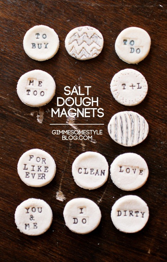 Salt Dough Magnets | www.gimmesomestyleblog.com #diy