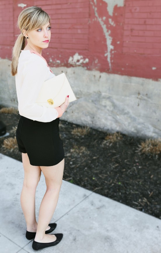 High waisted shorts with long sleeves | www.gimmesomestyleblog.com