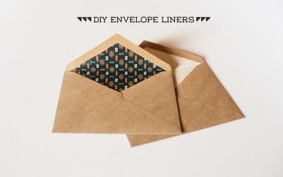 DIY Envelope Liners | www.gimmesomestyleblog.com | #diy