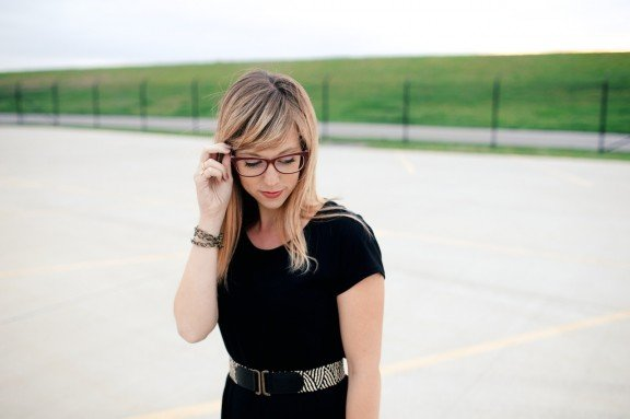 Little Black Maxi Dress | www.gimmesomestyleblog.com #maxi #dress #glasses #bonlook