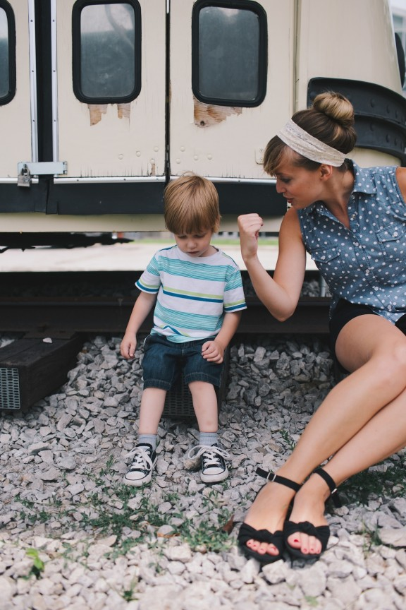 Polka dots and toddlers | www.gimmesomestyleblog.com