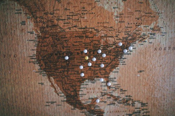 DIY Corkboard Map Gimme Some Oven - Hobby lobby us map