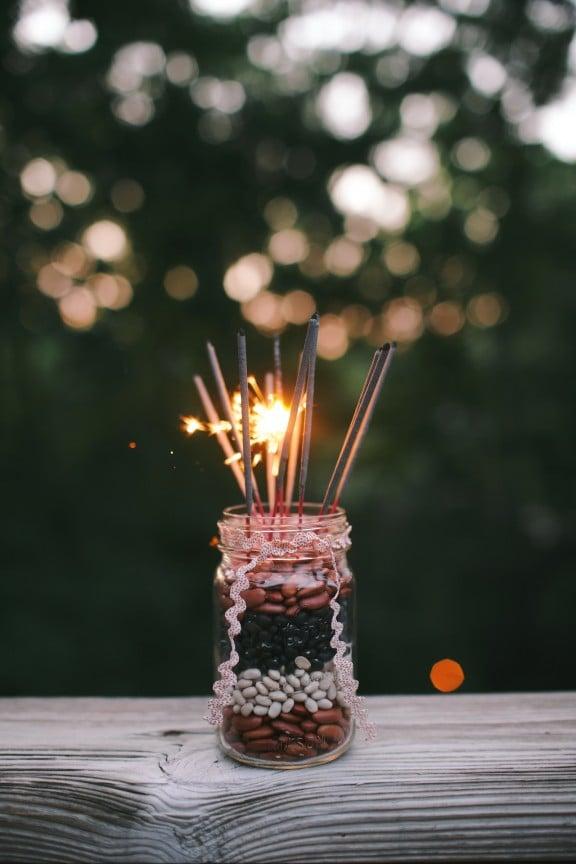 Fourth of July Fireworks Centerpiece   gimmesomestyleblog.com #sparklers #centerpiece #fourthofjuly #masonjar #craft #diy #holiday #fireworks
