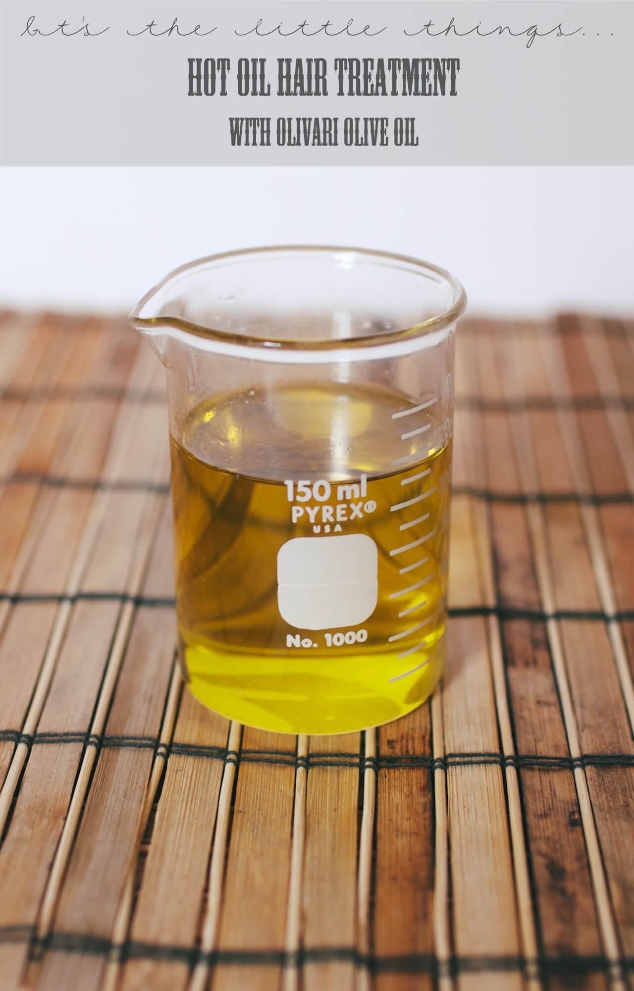 Olive oil hot hair treatment