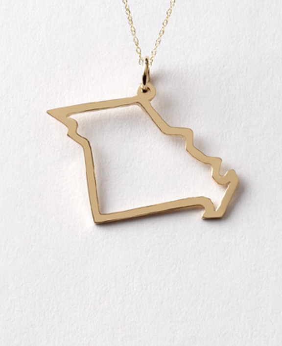 Missouri State necklace by Maya Brenner | www.gimmesomestyleblog.com #wear #ff #fridayfavorites #necklace #jewelry