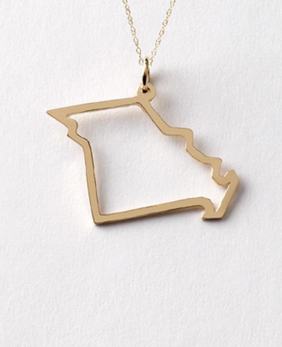 Missouri State necklace by Maya Brenner | www.gimmesomestyleblog.com #wear #ff #fridayfavorites #necklace #jewelry