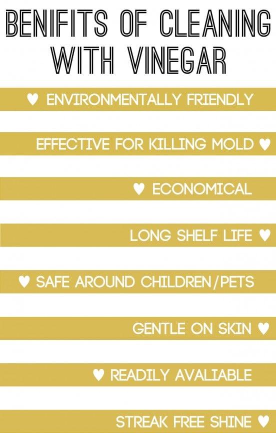 Benefits of cleaning with vinegar | www.gimmesomestyleblog.com #howto #diy #benefits #vinegar