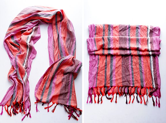 How To Turn A Regular Scarf Into An Infinity Scarf Gimme