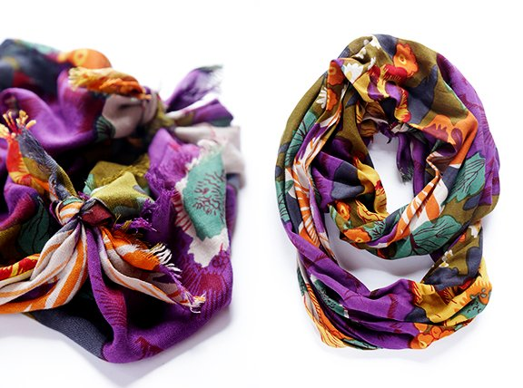 How To Turn A Regular Scarf Into An Infinity Scarf -- A Step-By-Step Photo Tutorial | gimmesomestyleblog.com