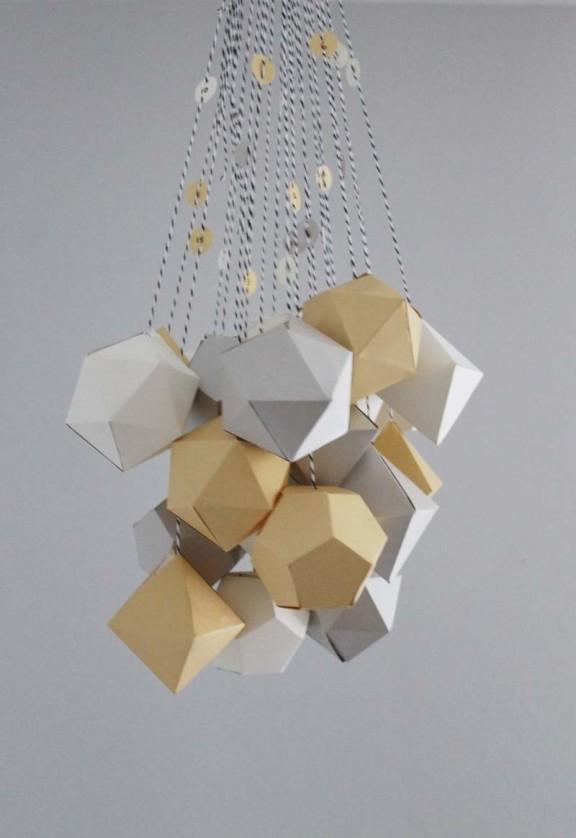 Geometric Advent Calendar via http://sanaeishida.com/   www.gimmesomeoven.com/style #calendar #diy #advent #christmas
