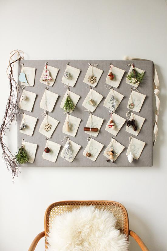 DIY Advent Calendar via The Marion House Book | www.gimmesomeoven.com/style #DIY #christmas #advent #calendar