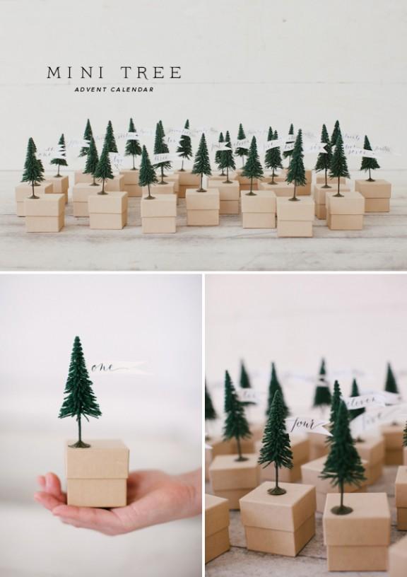 Mini Tree advent calendar via Oh Happy Day   www.gimmesomeoven.com/style #advent #diy #calendar #christmas