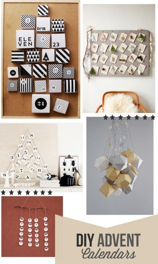 10 DIY Advent Calendars   www.gimmesomeoven.com/style #diy #advent #christmas