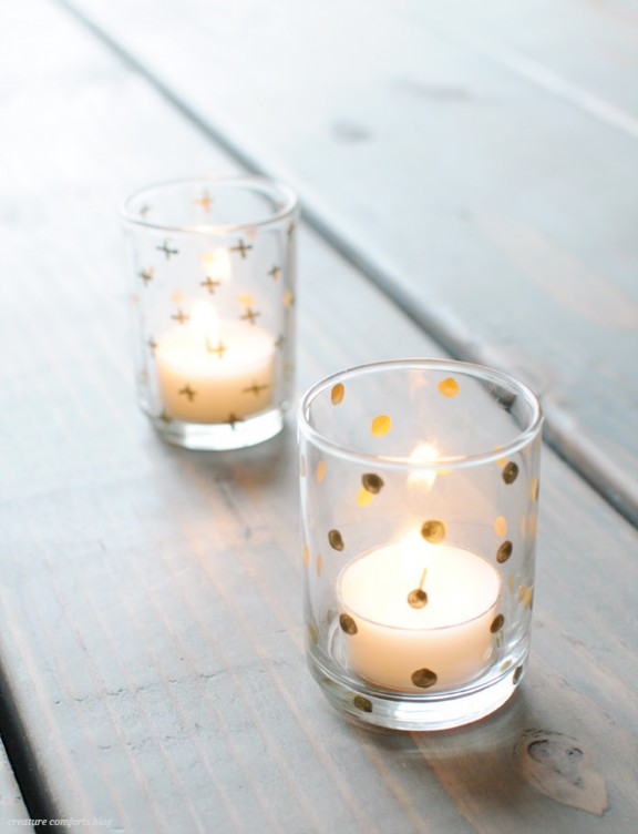 Friday Favorites: Gilded Votives | www.gimmesomeoven.com/style via Creature Comforts