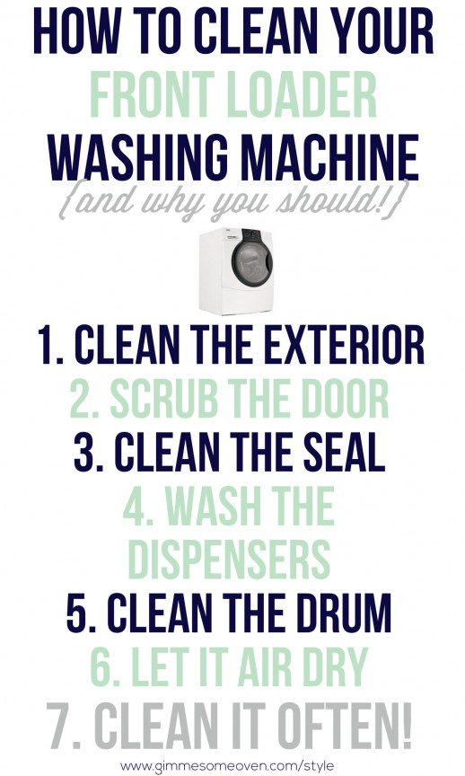 How to Clean Your Front Loader Washing Machine | www.gimmesomeoven.com/style #clean #washer #DIY #howto
