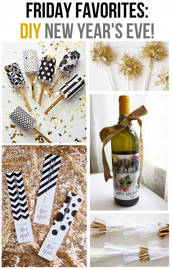 Friday Favorites: DIY New Year's Eve! | www.gimmesomeoven.com/style #newyears #diy #party #holiday #fridayfavorites #ff