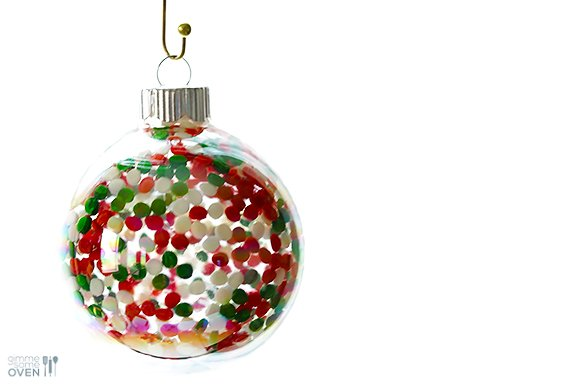 These DIY Sprinkles Ornaments Are Easy To Make And Customize With Your Favorite Colors Of