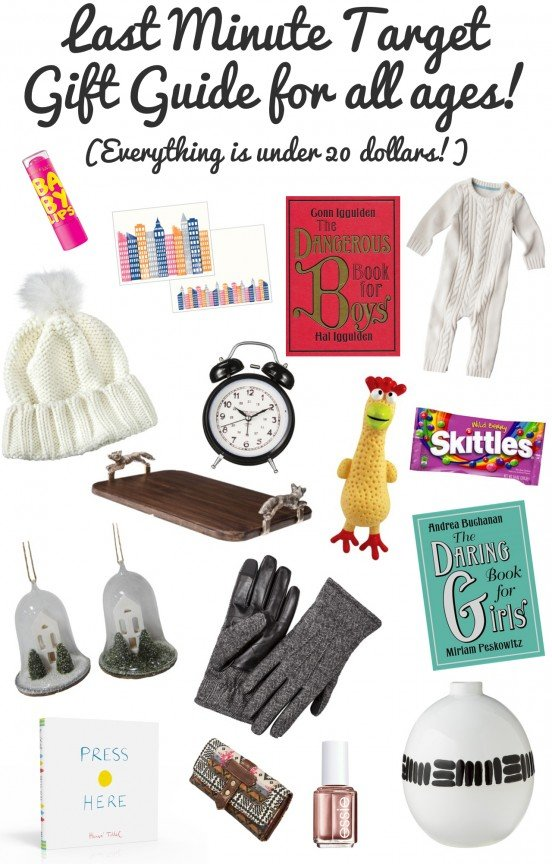 Last minute target gift guide!  Everything under 20 dollars! | www.gimmesomeoven.com/style #gifts #christmas #holiday #giftguide