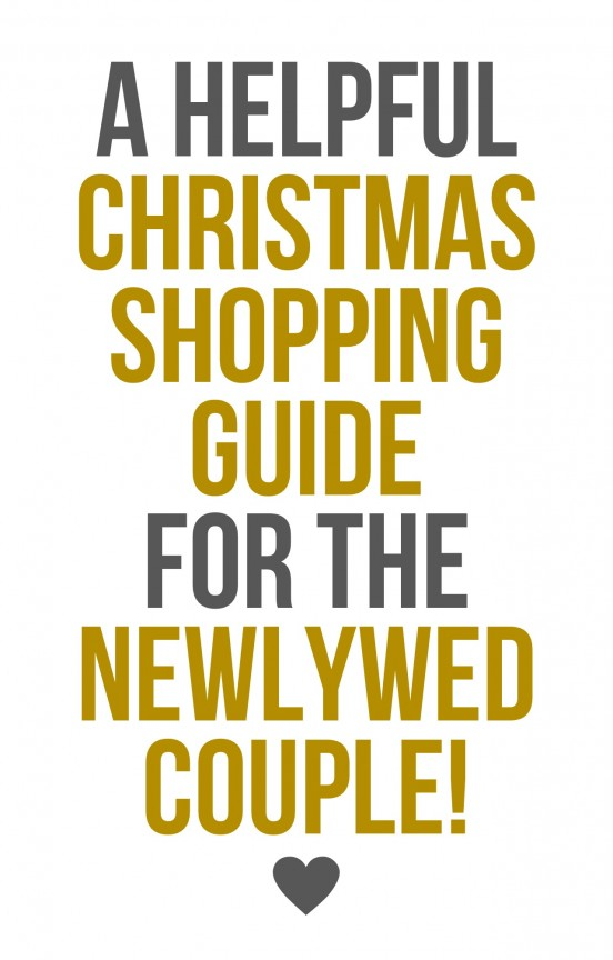 Find out what to buy for the newlywed couple in your life! | www.gimmesomestyleblog.com/style #giftguide #shopping #christmas