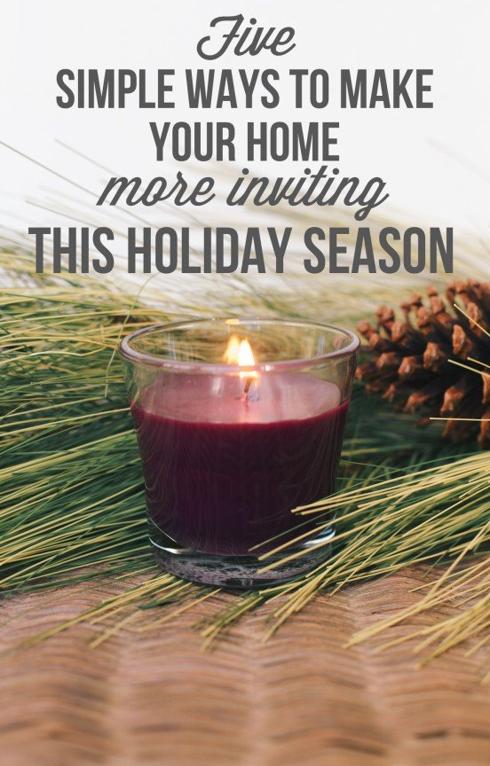 Five simple ways to make your home more inviting this holiday season! | www.gimmesomeoven.com/style #christmas #hosting #party #glade