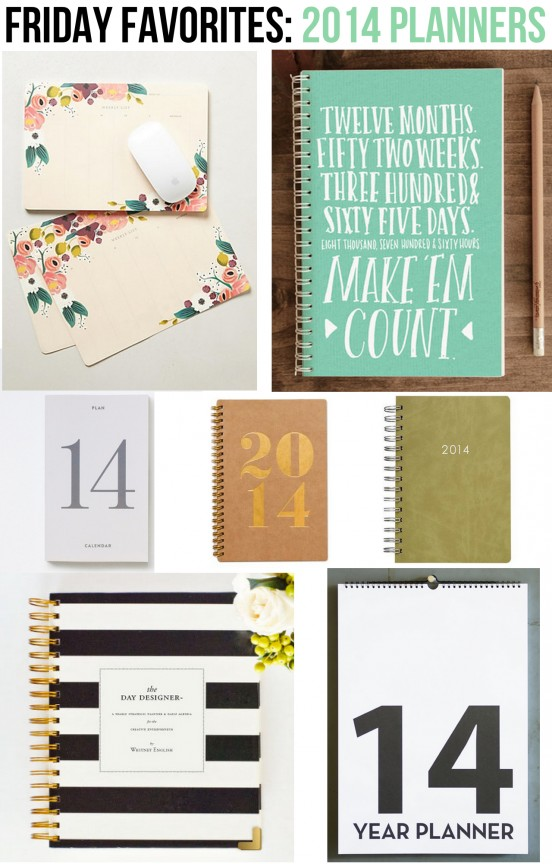 2014 Planner Round-Up | www.gimmesomeoven.com/style #fridayfavorites #organize #planners #ff