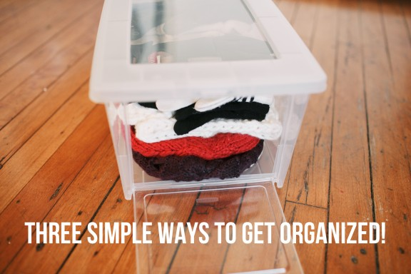 Three simple ways to get organized | www.gimmesomeoven.com/style #organize #DIY #rubbermaid