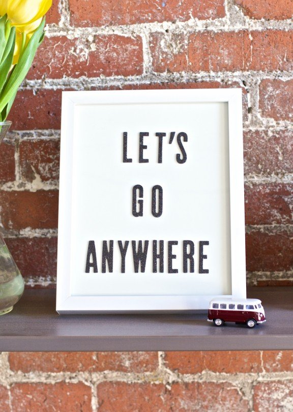DIY Text Wall Art | www.gimmesomeoven.com/style