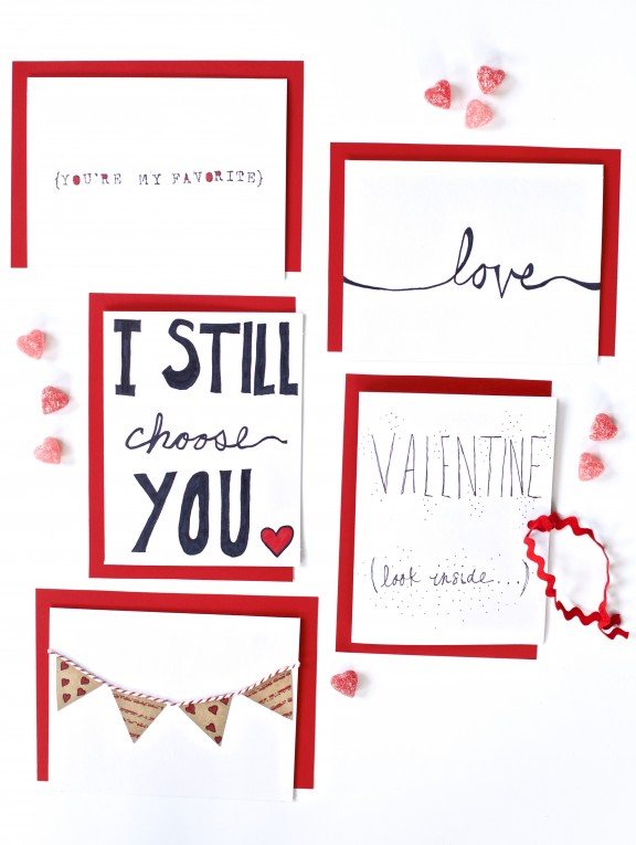 Five Easy DIY Valentine Cards – Easy Valentine Cards